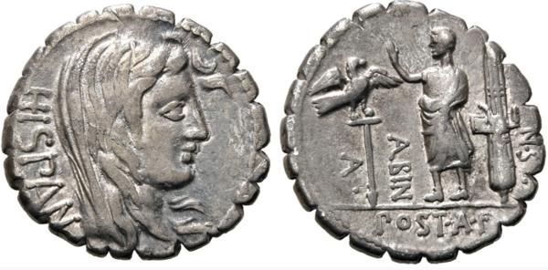 1 peseta de 1937, ¿inspirada en denario romano? Hispan